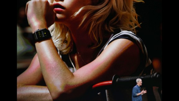 In addition to telling time, the Apple Watch features a magnetic charger, health and fitness apps, and a crown that controls zoom and scrolling with a twist.