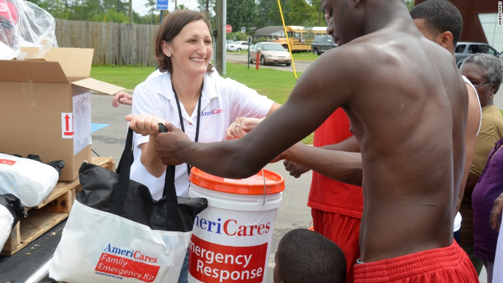 "After tornadoes hit Gulfport, Mississippi, <a href=""http://www.americares.org/"" target=""_blank"">AmeriCares</a> distributed emergency kits and other relief supplies to displaced families."