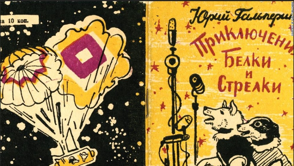 "Belka and Strelka became national celebrities on landing, and a range of memorabilia was produced as a result. Illustrated by Yuri Galperin, ""The Adventures of Belka and Strelka"" was a childrens' book, released in 1961."