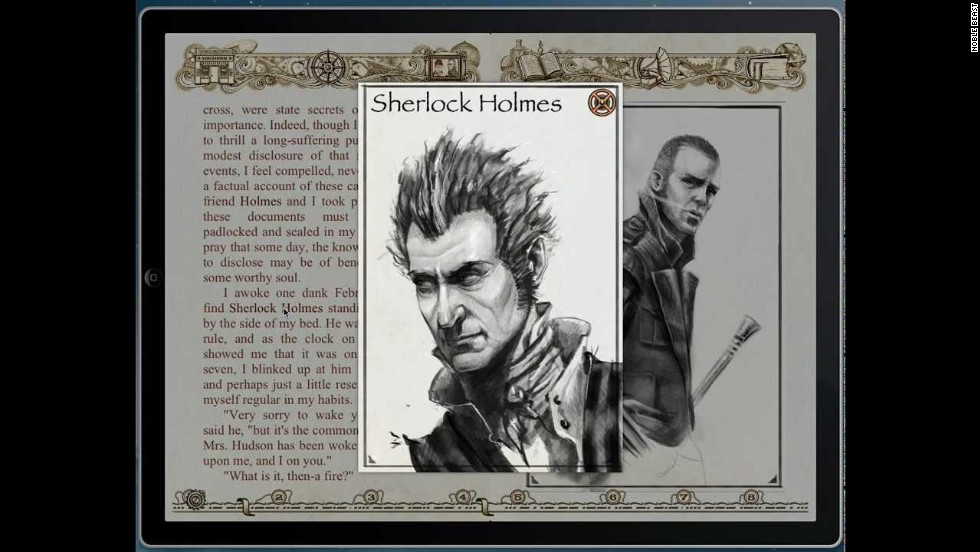 Steampunk Holmes from Noble Beast won best adult fiction at the Digital Book World awards 2013. Enhanced features include artworks, animation, navigable maps and hyperlinked text.