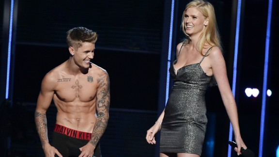 "Justin Bieber is a documented fan of public shirtlessness and singing songs to his grandmother in the nude. We can now also call the ""Baby"" singer a fan of the public striptease. At the 2014 charity event Fashion Rocks, Bieber removed everything but his underwear while on stage with co-presenter Lara Stone, explaining that he just didn't feel comfortable unless he was in his ""Calvins."""