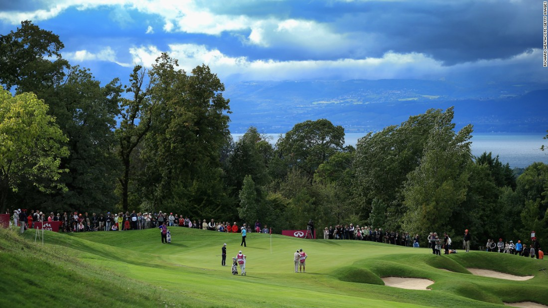 The Evian Resort Golf Club, located in Evian-les-Bains, France, is considered one of the most beautiful golf courses in Europe, boasting impressive views over lakes and mountains.