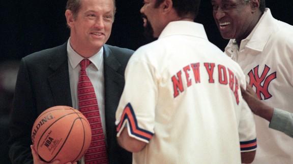 Bill Bradley, a former U.S. senator, pals around with his former teammates on the New York Knicks.