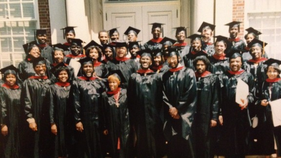 """Curtiss Paul DeYoung, middle row second from the right, says some classmates called him a """"white Negro."""""""