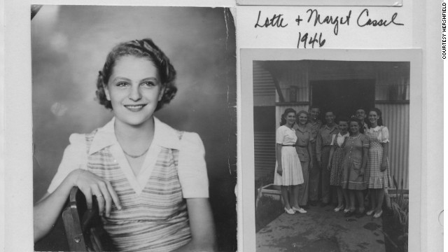 Lotte Cassel (now known as Hershfield) is seen as a teenager in 1946 after surviving both the Nazis and the Japanese occupation of the Philippines.
