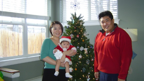 Throughout his life, Yusuke Kirimoto was overweight. He is pictured here in December 2006 with his wife and daughter in their Westminster, Colorado, home.