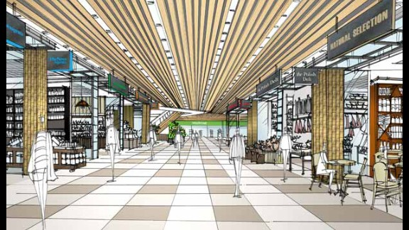 Another design by Cada Design Group, this one of restaurants in London's largest shopping mall at Westfield Stratford.