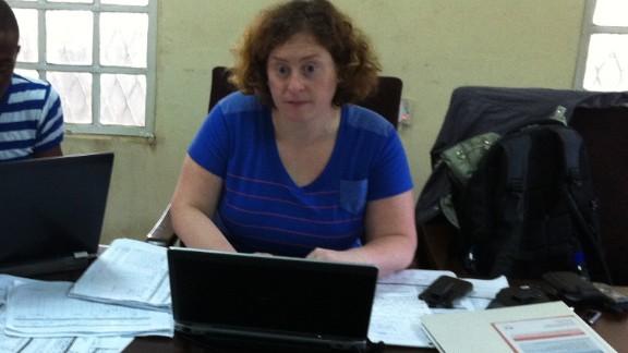 Lt. Rebecca Levine tracks the spread of the Ebola virus