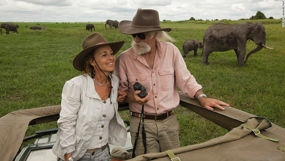 Beverly and Dereck Joubert (pictured) are a husband-and-wife team of filmmakers and photojournalists for National Geographic. They recently started Rhinos Without Borders, a charity that plans to move at least 100 black and white rhinos from South Africa to Botswana, where poaching is nearly nonexistent.