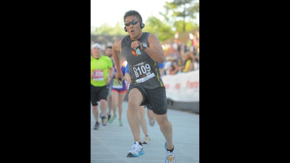 He started running longer distances and was inspired to sign up for races around Colorado.