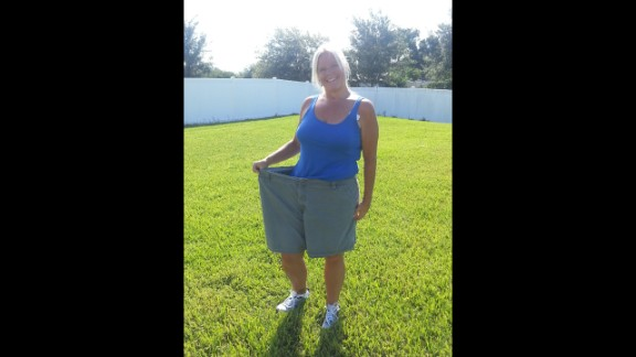 Corn had tried Weight Watchers in 2008 after attempting multiple other diets. She stuck with the program for less than a year. When she started again in 2011, her mind-set was completely different. She made a commitment to pay attention and listen closely in meetings and adhere to the plan. The shorts she
