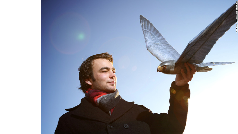 "The Dutch-made <a href=""http://edition.cnn.com/2014/09/16/tech/realistic-robo-hawks-clear-flight/"">robobird</a> is designed to terrorize other birds and keep them away from crops."