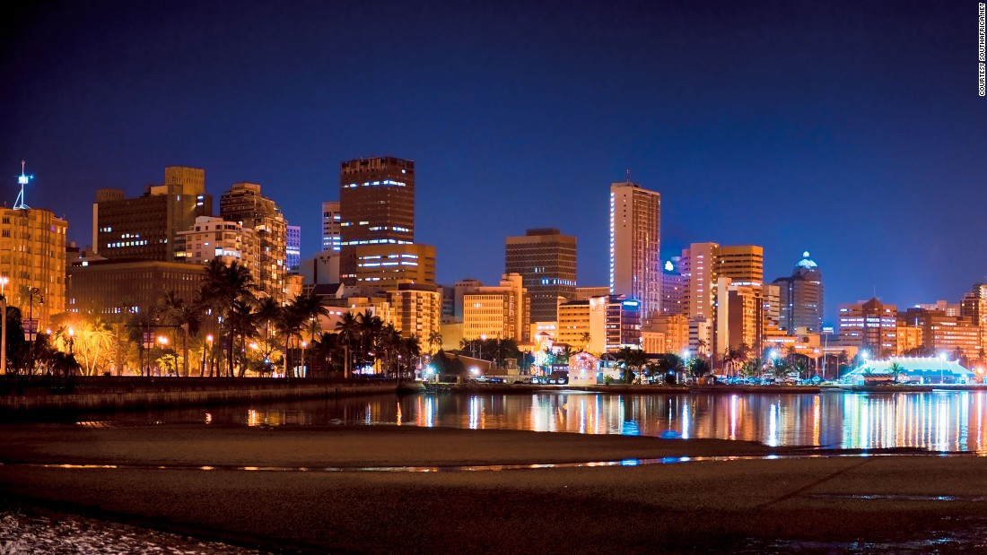 In at number five is Durban, popular with tourists for its warm climate and extensive beaches.