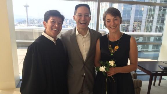 Justice Mary Yu, Eric Liu and Jená Cane