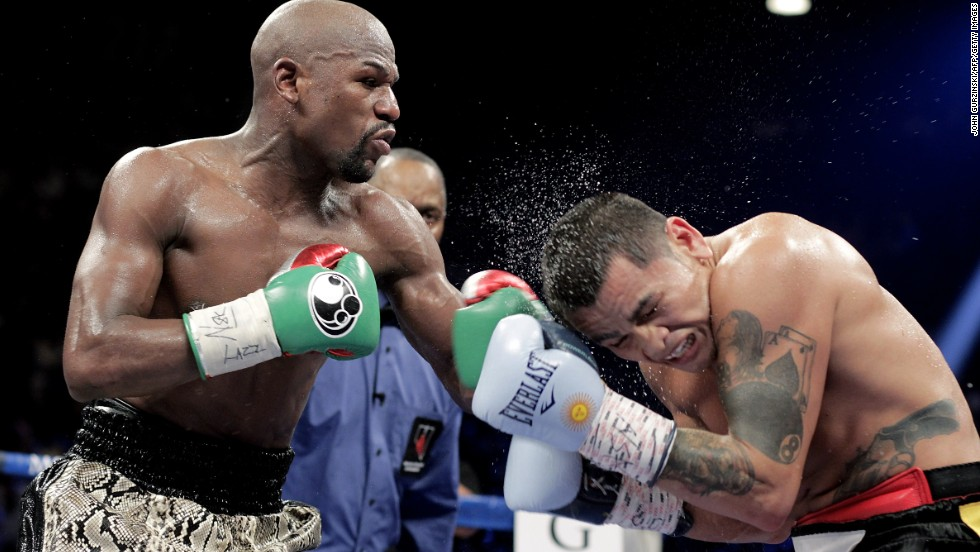 Mayweather's last bout was against Marcos Maidana of Argentina on September 13, 2014 at The MGM Grand in Las Vegas. Mayweather dominated with a 12 round unanimous decision, retaining his WBA welterweight belt and WBC welterweight and super welterweight world titles.