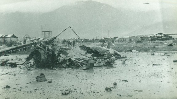 The scene in Camp A Shau, Vietnam, after the battle in March 1966.