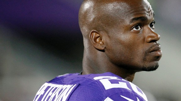 Minnesota Vikings running back Adrian Peterson