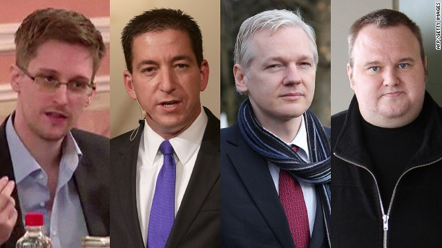 "Edward Snowden, Glenn Greenwald and Julian Assange all spoke at Kim Dotcom's ""Moment of Truth"" event."