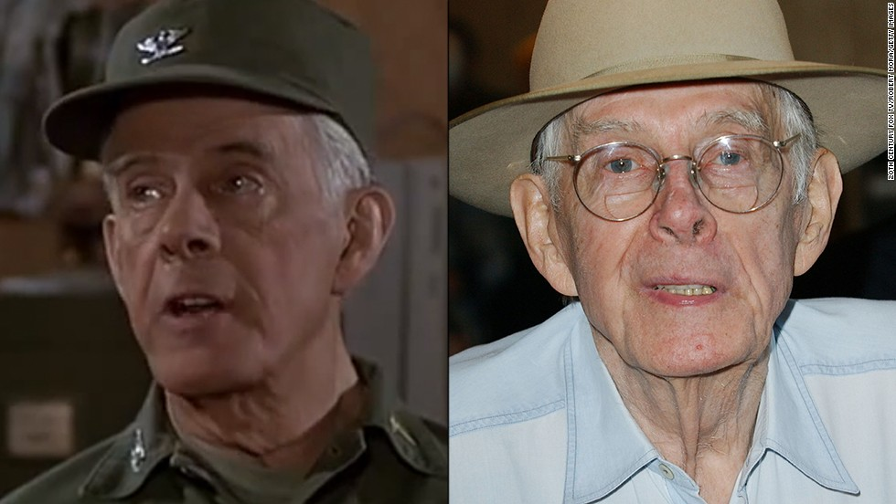 "Harry Morgan's Col. Sherman Potter was met with distrust when he took command of the 4077th in the fourth season, but the character was soon embraced and earned Morgan an Emmy. Morgan had a strong career before ""M*A*S*H"" with ""Dragnet"" and ""Gunsmoke,"" and he kept the momentum after the series ended. Prior to his death at 96 in 2011, Morgan also appeared in comedies ""Grace Under Fire"" and ""3rd Rock from the Sun."""