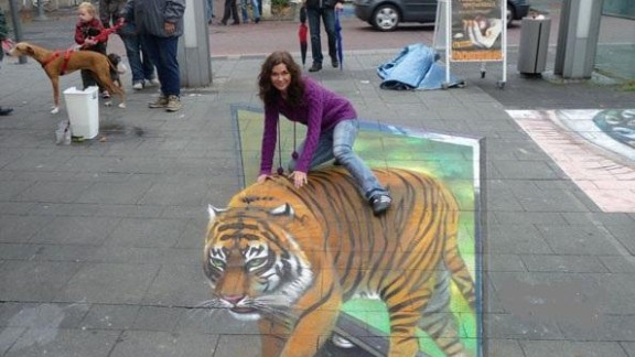 ... So it turned to peer-to-peer business lender Funding Circle to generate capital. Peer-to-peer lending lets members of the public invest directly in businesses. Pictured, a 3D art campaign for LG 3D televisions, in Berlin.