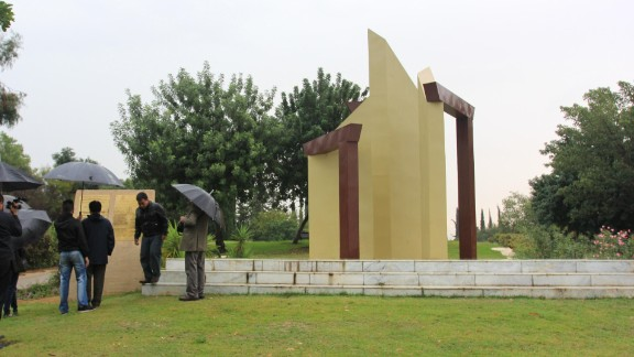The monument dedicated to the Philippines for providing refuge to European Jews stands in the city of Rishon LeZion, Israel.