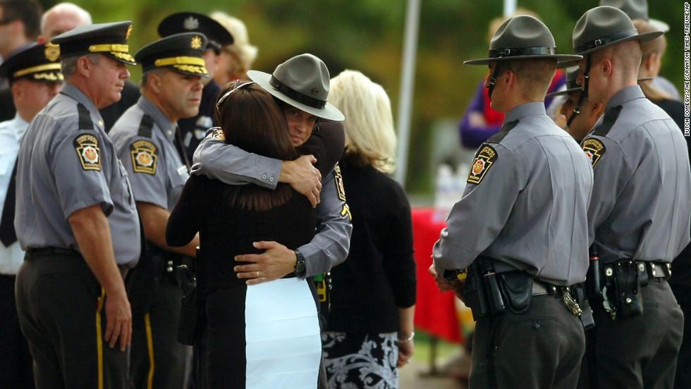 Hundreds Attend Slain Penn Troopers Funeral Cnn