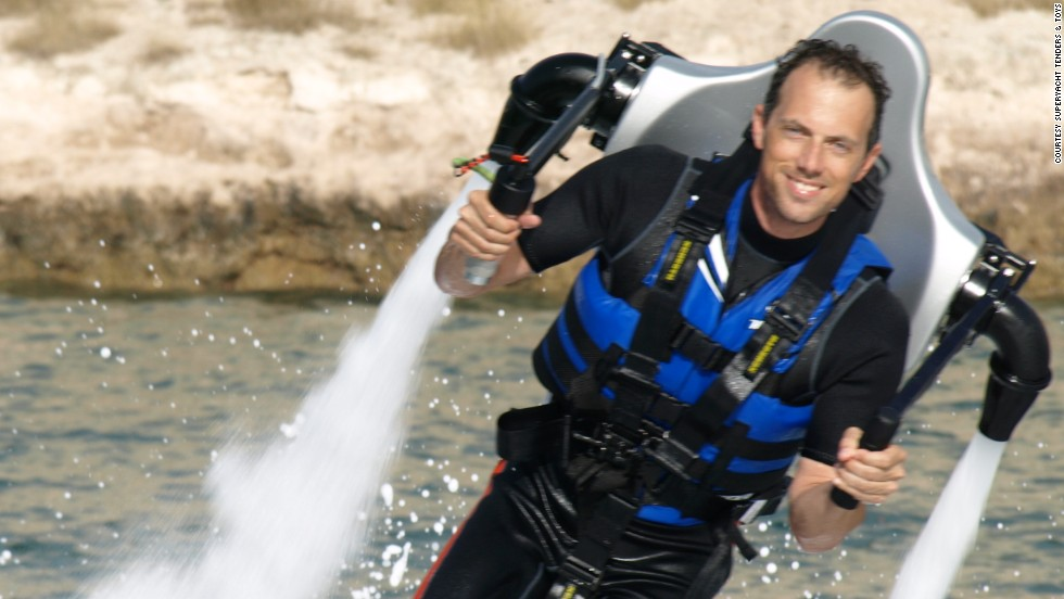 Ever dreamed of a grand Bond-like entrance? The Jetlev Flyer can shoot wearers up to 10 meters into the air.