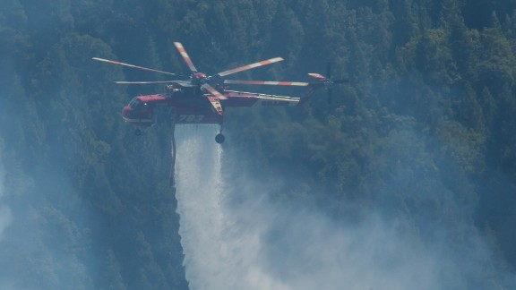 Helicopter over King Fire