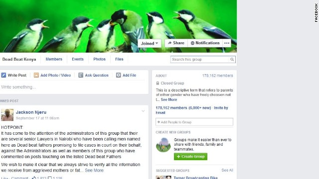A newly created Facebook page alleges to expose absentee parents in Kenya.