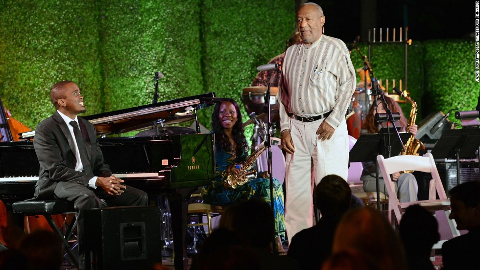 Cosby speaks in 2012 during the 100th anniversary celebration of the Beverly Hills Hotel & Bungalows supporting the Motion Picture & Television Fund and the American Comedy Fund. The comedian is active in several charitable causes.