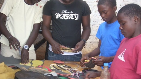 The center gives street children a skill they can earn from in a country with rampant youth unemployment.