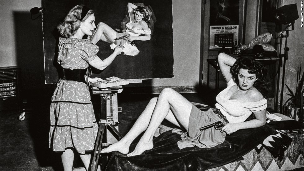 Although in many cases real-life models were used, their figures and poses were exaggerated to present an idealized vision of unattainable beauty.