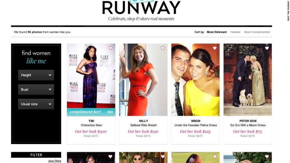 Rent the Runway offer designer dresses for a fraction of the cost of buying them.