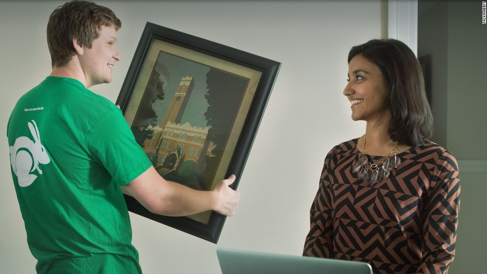 Skill exchange through TaskRabbit, from home improvements to college courses.
