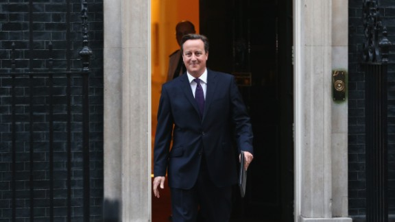 LONDON, ENGLAND - SEPTEMBER 19: Prime Minister David Cameron gives a press conference following the results of the Scottish referendum on independence outside 10 Downing Street on September 19, 2014 in London, England. The majority of Scottish people have today voted 'No' in the referendum and Scotland will remain within the historic union of countries that make up the United Kingdom. (Photo by Dan Kitwood/Getty Images)