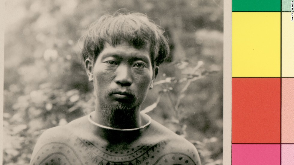 The Naga people of Assam, India, receive their tattoos when enemy flesh has been touched. This was taken in the early 1900s.