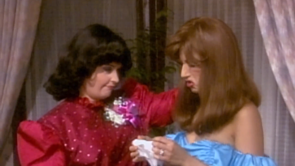"""<strong>""""The One with the Prom Video:""""</strong> In season 2, Monica and Rachel's old prom video is dug up and played for the group, showing just how long Ross has been swooning over Rachel. He got a kiss in the end, and we got '80s flashbacks. Win for everybody!"""