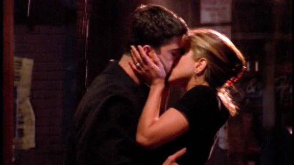 """<strong>""""The One Where Ross Finds Out:""""</strong> After spending so much time watching a lovelorn Ross hold feelings for Rachel in the first season, the second season of """"Friends"""" flipped that scenario on its head. Finally, in episode 7 of season 2, Ross learns that Rachel feels the same way, leading to """"the kiss."""""""