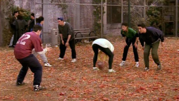 """<strong>""""The One with the Football:""""</strong> """"Friends"""" Thanksgiving episodes are always among the best of the series, and this season 3 episode is a standout. As proven in season 1, anytime you get this competitive group together and introduce a game, you're going to get classic moments."""