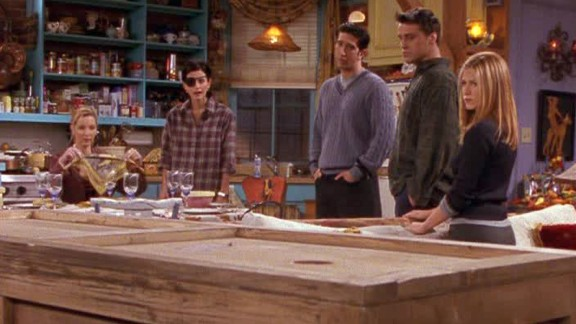 """The One with Chandler in a Box:"" The Thanksgiving episode in season 4 was another winner thanks to a Joey-Chandler spat. To repair their friendship, Joey sentences Chandler to six hours in a box. The sight gag was excellent, but Chandler cracking wise from inside the box brought the episode to a timeless level of funny. And it gave us Monica"