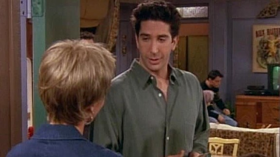 """<strong>""""The One Where Ross Can't Flirt:""""</strong> David Schwimmer had some incredible moments as the romantically frustrated Ross Geller in season 5 (""""The One with Ross's Sandwich"""" is another classic episode.) In this installment, he insists on proving he can flirt with the woman delivering pizzas -- and just continues to dig himself into a deeper hole. Bonus points for Joey's debut in a """"Law & Order"""" episode."""