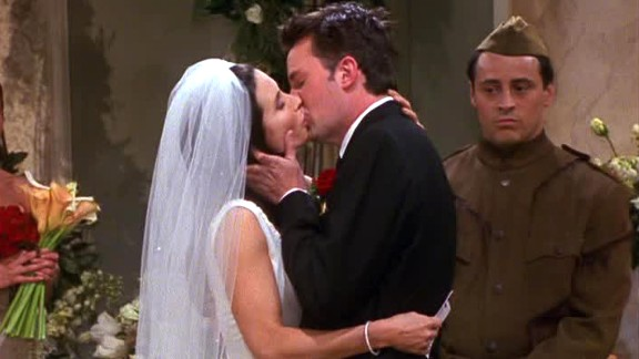 """<strong>""""The One with Monica and Chandler's Wedding, Part 2:"""" </strong>Season 7 as a whole had some gems -- the holiday armadillo; the one with Rachel's book and the one with all the cheesecakes, just to name a few -- but we'll cherry pick the season finale. Monica and Chandler make it to become Mr. and Mrs. Bing, but there was also the tease to Rachel's pregnancy in season 8."""
