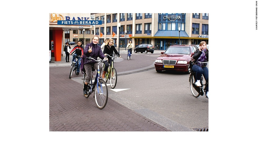 The Dutch town of Drachten was one of the first to change into a shared space by the pioneer Hans Monderman.