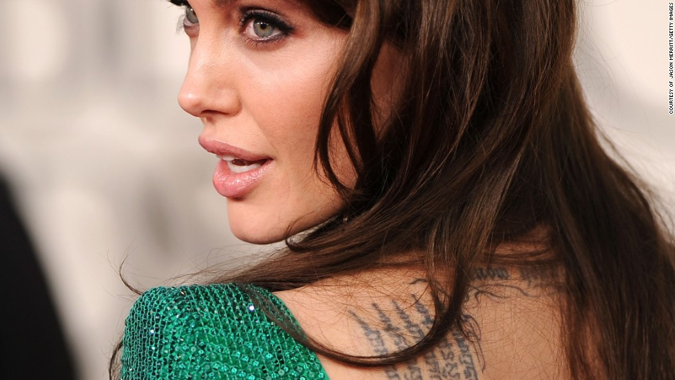 Celebrity culture has played a large role in influencing and popularizing tribal tattoos. Angelina Jolie has a Buddhist Pali incantation written in Khmer script, a language spoken in Cambodia.