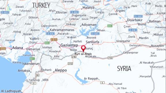 Map: Ayn al-Arab