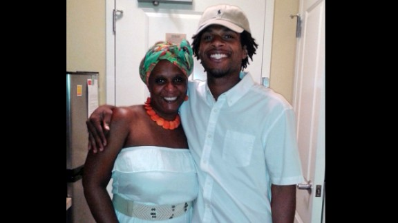 John Crawford, right, poses with his mother, Tressa Sherrod, in this undated photo provided by the family.