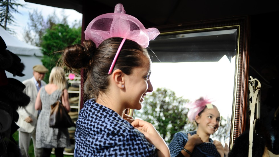Racegoers are able to lap up the action of Europe's richest event as well as test out the latest in Parisian fashion.