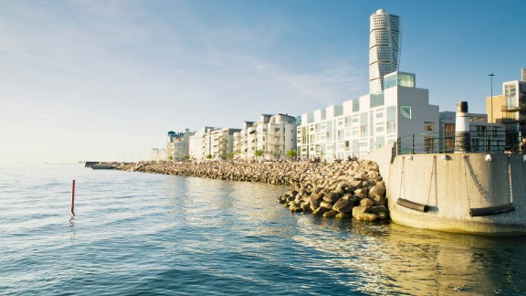 The Western Harbour in the city of Malmo is home to some of the most energy efficient houses in Sweden.