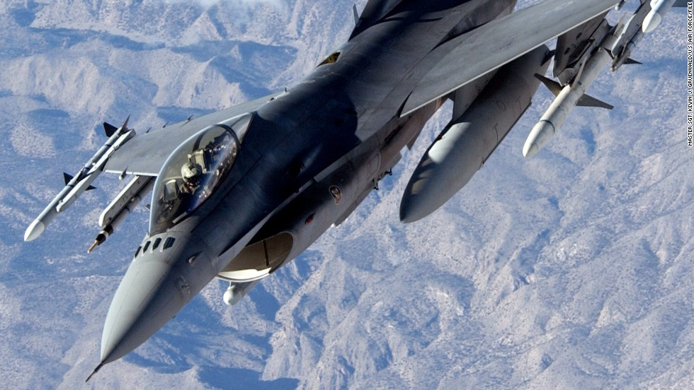 The workhorses of the American fighter fleet, F-16s, have been used in dozens of  strikes against ISIS. F-16s can travel 1,500 mph, or Mach 2, at altitude.