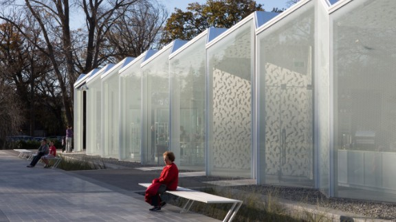 The new visitor center at Christchurch Botanic Gardens in New Zealand is one of the projects meant to rebuild the city after a 2010 earthquake. <br /><strong>Category: </strong>Display<br /><strong>Architects: </strong>Patterson Associates Ltd (New Zealand)